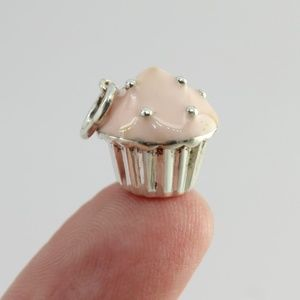 Tiffany & Co. Jewelry - Tiffany & Co Silver and Pink Enamel Cupcake Charm